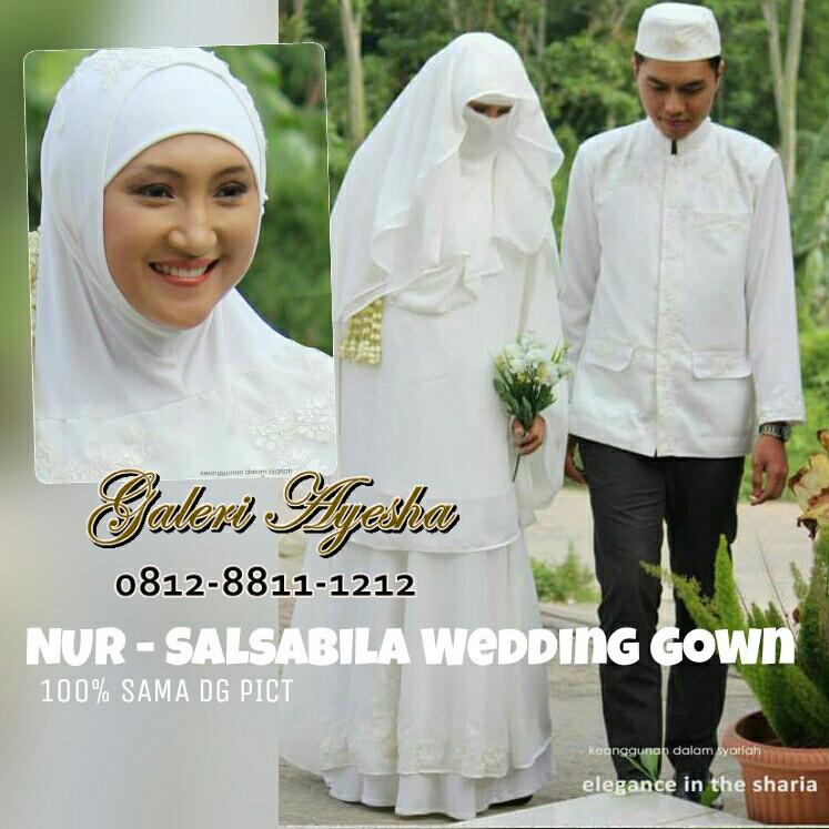 Gaun Pengantin Syari Muslimah Bercadar Inspirational Baju Lamaran islami Baju Lamaran Muslimah Baju Lamaran