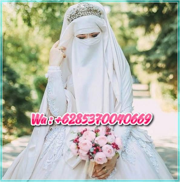 Gaun Pengantin Syari Muslimah Bercadar Luxury 50 Gaun Pengantin Muslimah Putih Pink Dan Biru 2019 Jasa