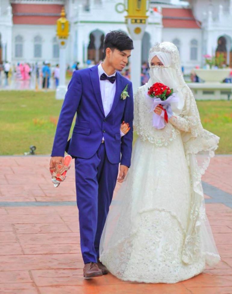 Gaun Pengantin Syari Muslimah Bercadar Luxury Cantik Nan Teduh Ini Deretan Inspirasi Busana Pengantin