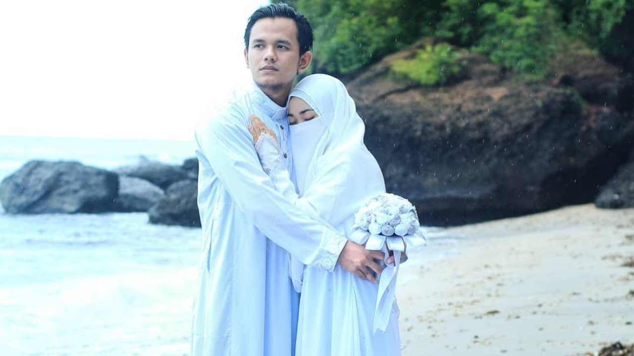Gaun Pengantin Syari Muslimah Bercadar Luxury Whua Wedding Muslimah Bercadar Paling Bikin Baper