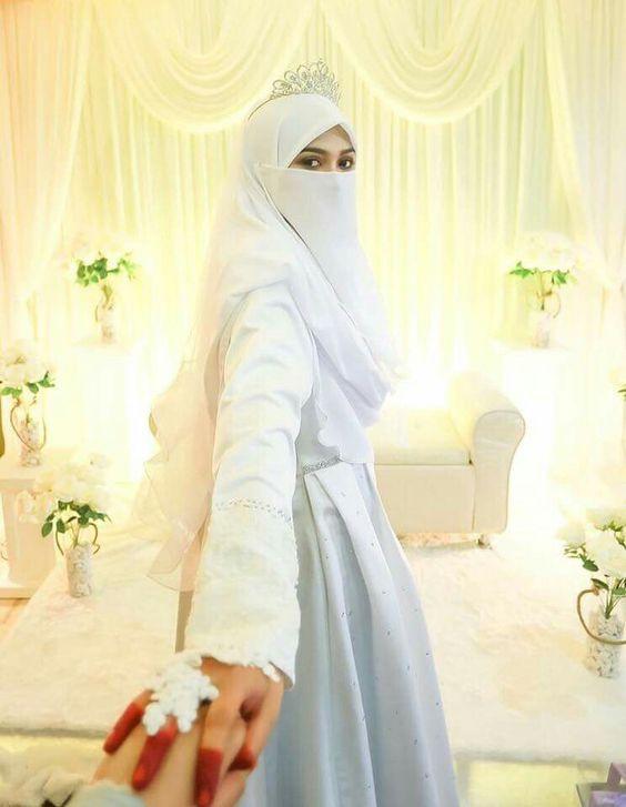 Gaun Pengantin Syari Muslimah Bercadar New Simak Varian Gaun Syar I Bercadar Ini Bikin Tampil Anggun