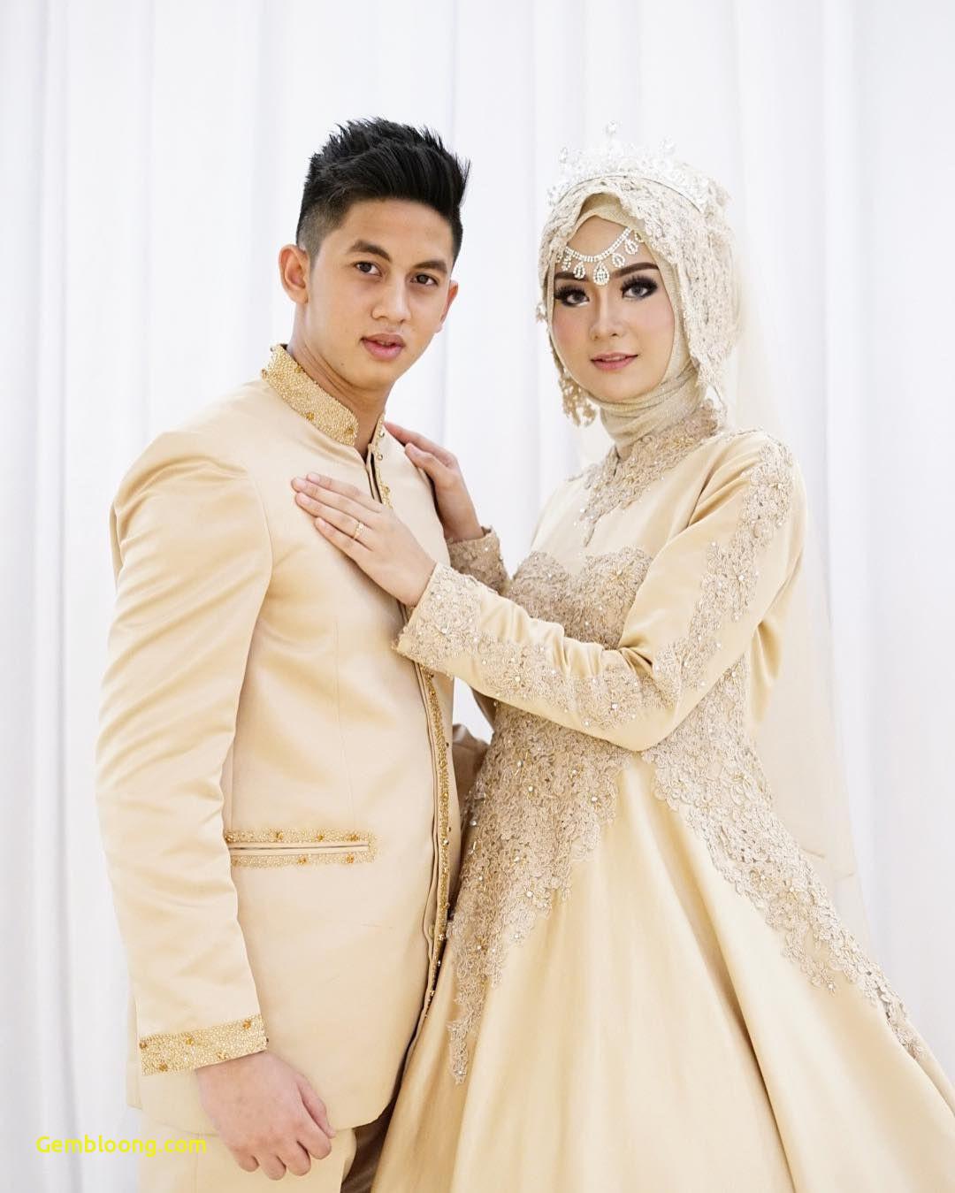 Gaun Sederhana Pengantin Berhijab Awesome 12 Desain Gaun Pernikahan Muslimah Elegan Nan Sederhana