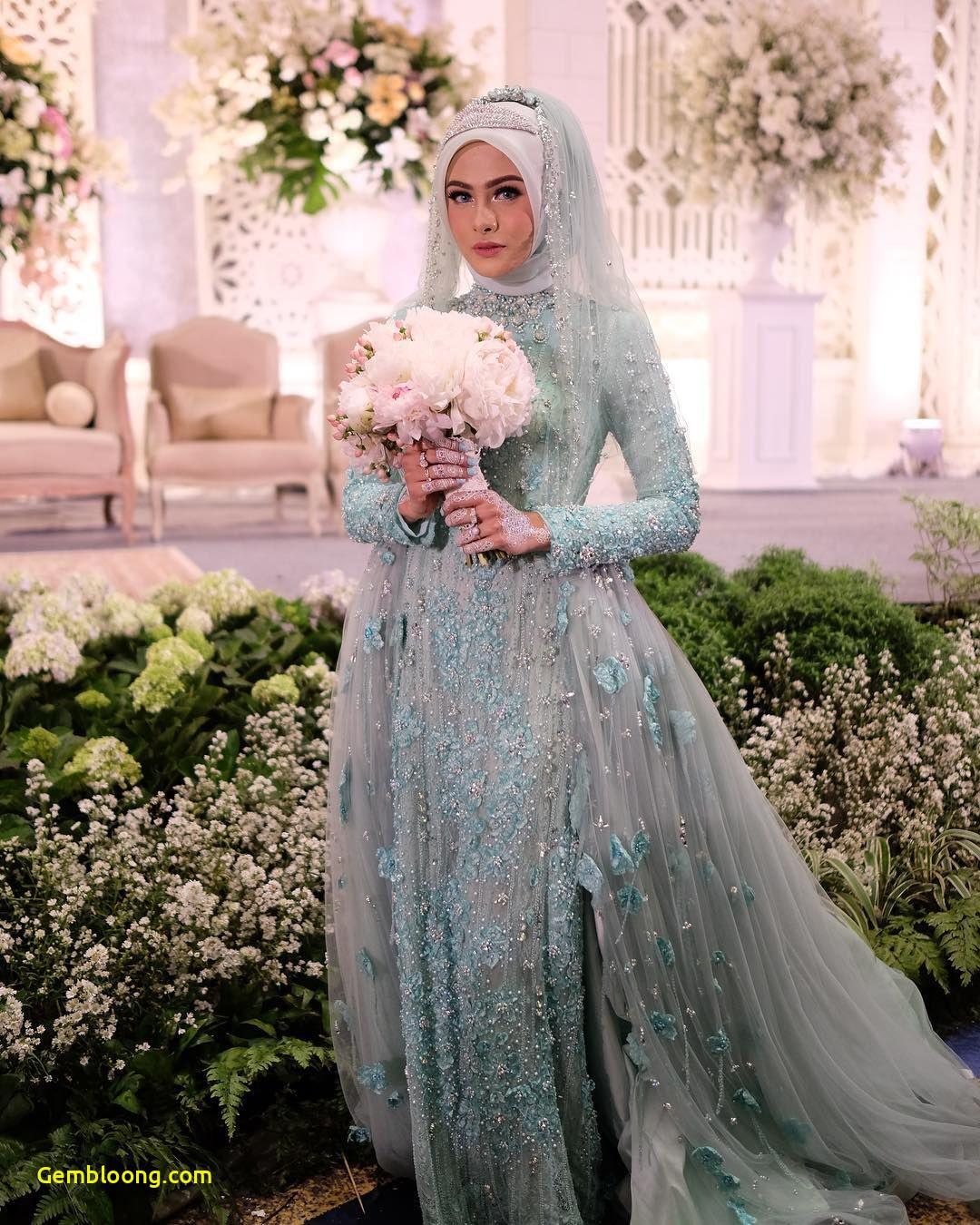 Gaun Sederhana Pengantin Berhijab Beautiful 12 Desain Gaun Pernikahan Muslimah Elegan Nan Sederhana