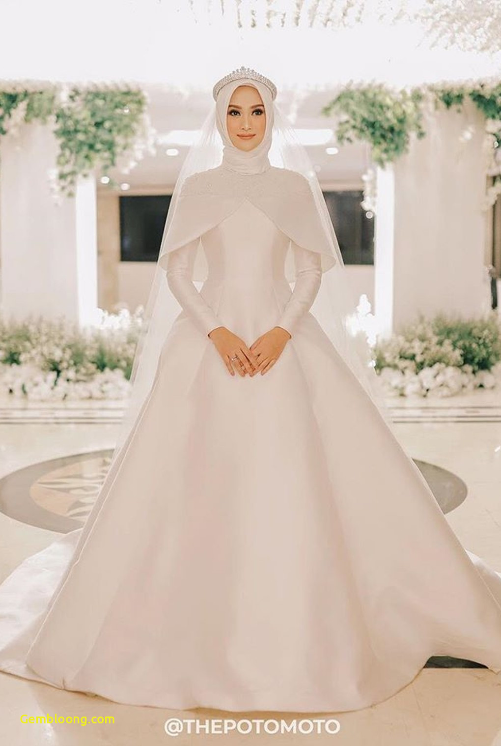 Gaun Sederhana Pengantin Berhijab Lovely 20 Inspirasi Gaun Pernikahan Untuk Calon Pengantin Berhijab