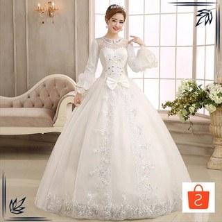 Ide Baju Pengantin Modern Muslim Wddj Grosir Sy Gaun Pengantin Import Wedding Dress Lengan Panjang Modern Muslimah Keren