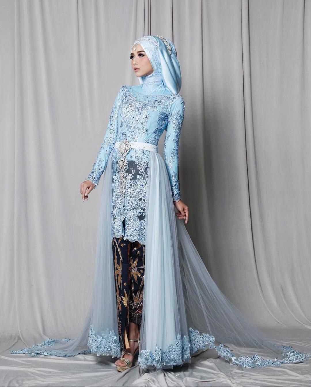 Ide Baju Pengantin Muslim Sederhana Etdg 30 Model Gamis Pengantin Brokat Fashion Modern Dan