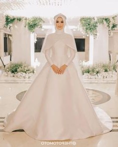 Ide Baju Pengantin Muslim Sederhana Xtd6 1921 Gambar Shabby Chic theme Wedding Terbaik Di 2019
