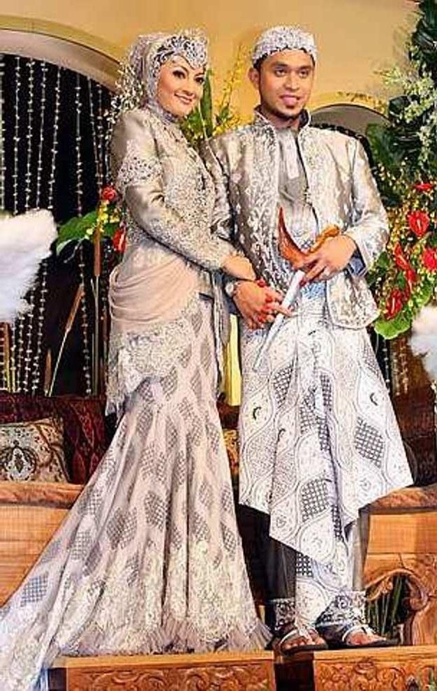Ide Baju Pengantin Muslimah Jawa Syar'i Q5df 22 Model Baju Pengantin Nikah Berjilbab Cantik Elegan