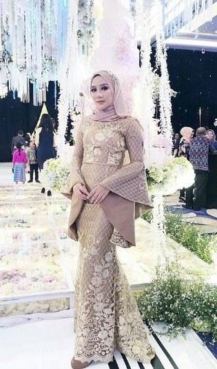 Ide Baju Pengantin Muslimah Modern U3dh Dress Brokat Duyung Pendek Gamis Brokat