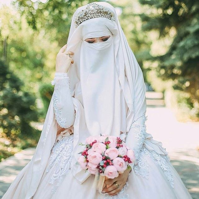 Ide Baju Pengantin Muslimah Syari Mndw top Info Gaun Pengantin Niqab Baju Pengantin