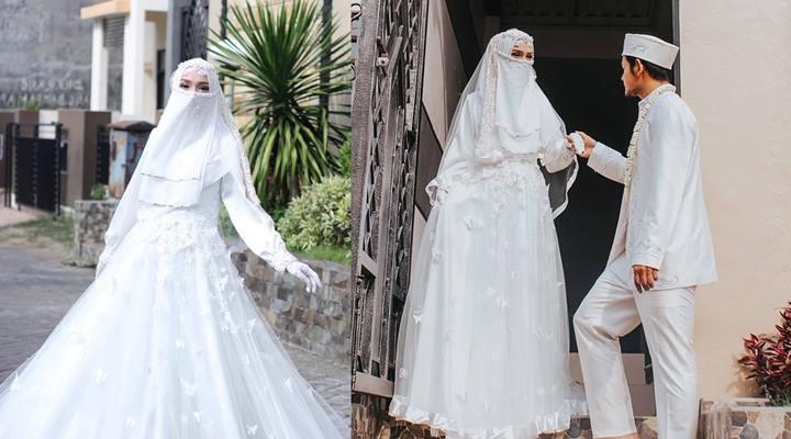 Ide Baju Pengantin Muslimah Syari O2d5 top Info Gaun Pengantin Niqab Baju Pengantin