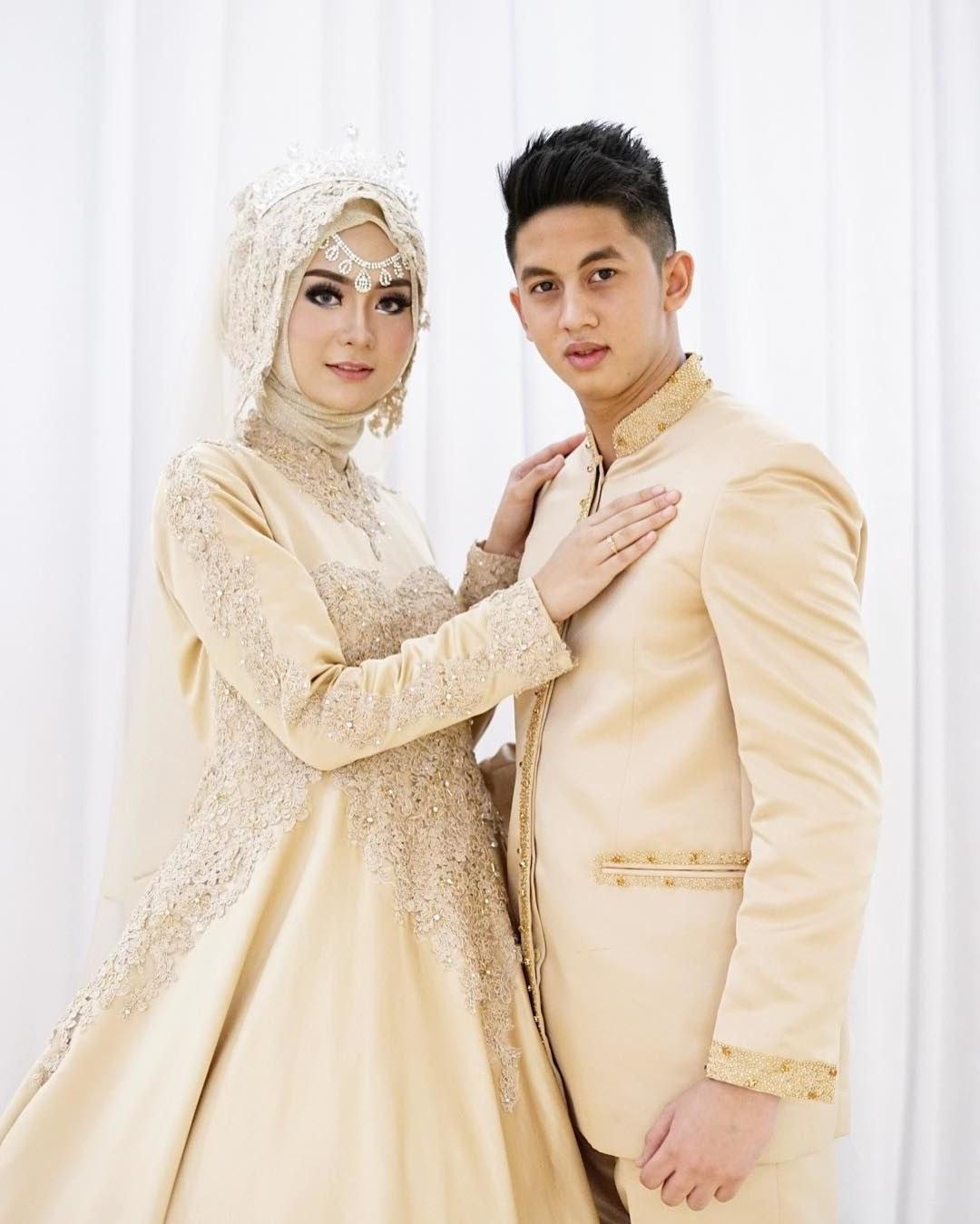 Ide Baju Pengantin Sederhana Muslimah Irdz Contoh Desain Baju Pengantin Muslimah Desain Pernikahan