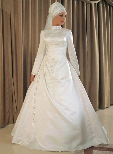 Ide Baju Pengantin Sederhana Muslimah S1du List Of Gaun Pengantin Putih Muslim Images and Gaun