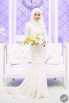Ide Baju Pengantin Sederhana Muslimah Zwdg 63 Imej Baju Pengantin Terbaik