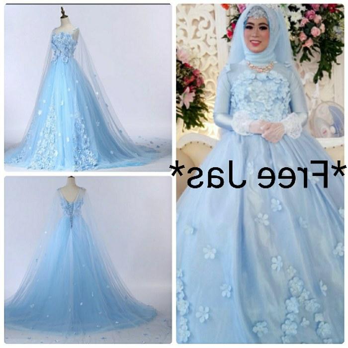 Ide Baju Pesta Pernikahan Muslimah Q0d4 Jual Tb 228 Gaun Baju Pesta Pengantin Pre Wedding Dress Muslim Biru Import Kota Batam Wedding Dress Store
