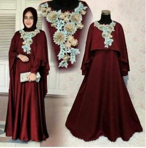 Ide Baju Pesta Pernikahan Muslimah Q0d4 Model Baju Gamis Pesta Pernikahan 2017 Mawar