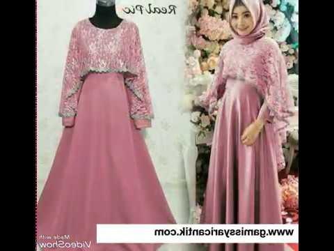 Ide Baju Pesta Pernikahan Muslimah Q5df Baju Gamis Pesta Mewah