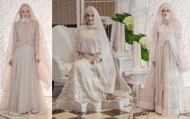 Ide Baju Pesta Pernikahan Muslimah Whdr Contoh Model Baju Pesta Bagi Wanita Muslim Model Busana