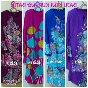 Ide Baju Tidur Pengantin Muslimah Zwdg Baju Mini Kurung Saloma Batik Dan Jubah Manik