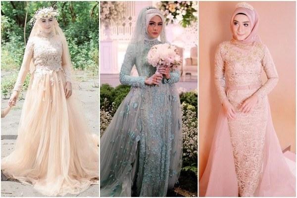 Ide Dress Pernikahan Muslimah 3ldq 12 Desain Gaun Pernikahan Muslimah Elegan Nan Sederhana