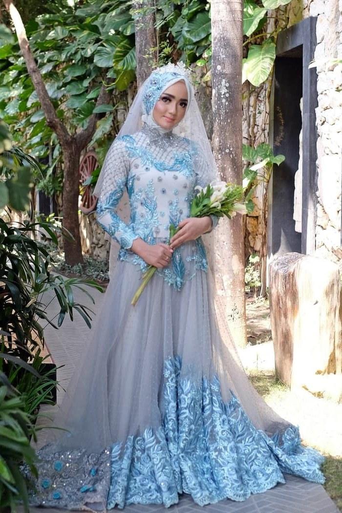 Ide Dress Pernikahan Muslimah 87dx Jual Gaun Dress Baju Pengantin Muslimah Linaf 001 Kota Yogyakarta Bbride