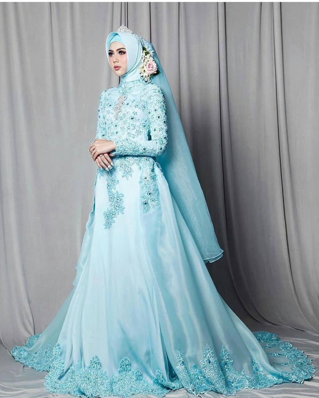 Ide Dress Pernikahan Muslimah 9fdy 17 Model Baju Pengantin Muslim 2018 Desain Elegan Cantik