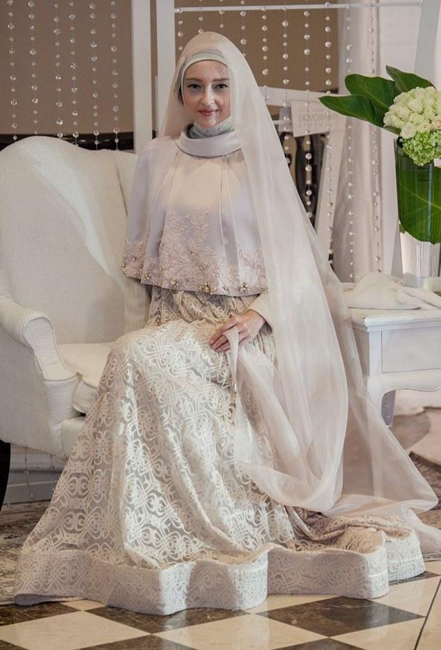 Ide Dress Pernikahan Muslimah 9fdy Fashionislami Baju Pengantin Muslim Terbaru Merupakan