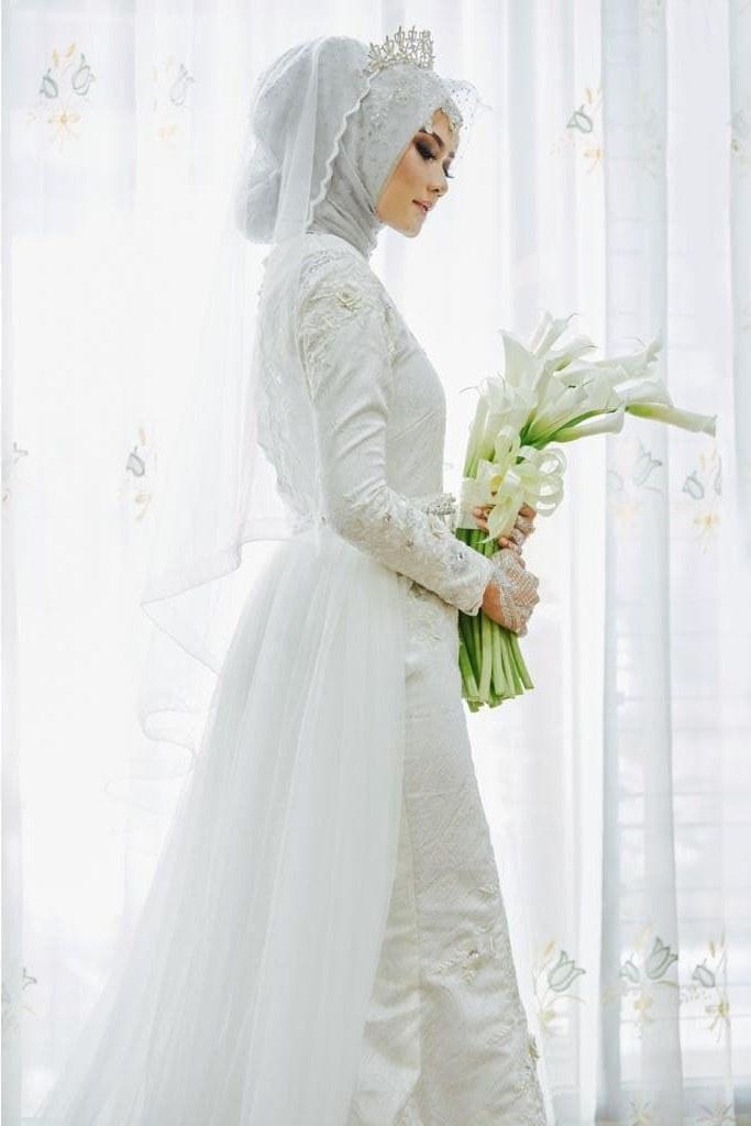 Ide Dress Pernikahan Muslimah 9fdy Jual Gaun Dress Baju Pengantin Muslimah Shofawhite 001 Kota Yogyakarta Bbride