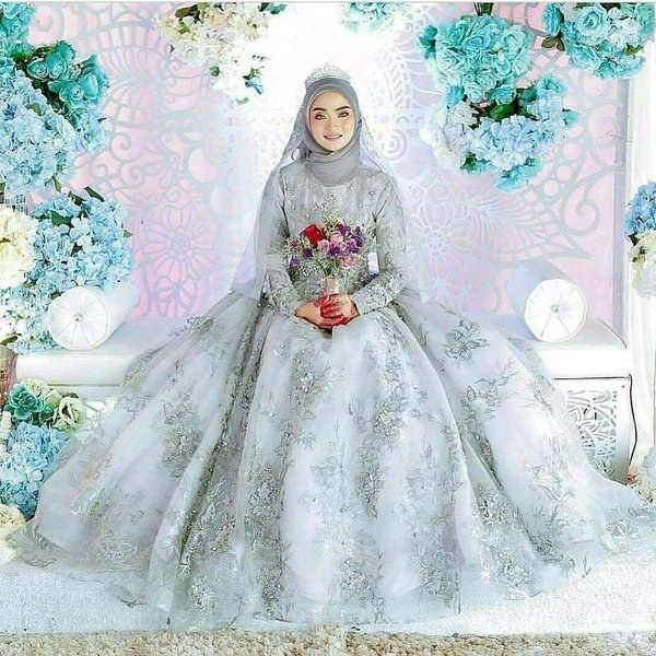 Ide Dress Pernikahan Muslimah Drdp 15 Inspirasi Gaun Pengantin Muslimah Yang Modern