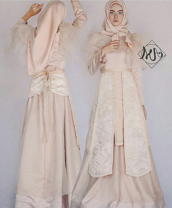 Ide Dress Pernikahan Muslimah Kvdd Sewa] Bromantic Apron Modification Inspired by Letty