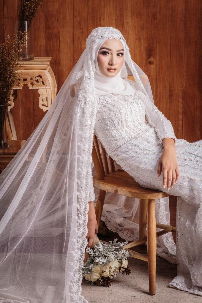 Ide Dress Pernikahan Muslimah Y7du Laksmi Newest Collection Shoot Dress Akad Nikah Long