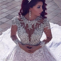 Ide Foto Baju Pengantin Muslim Modern Ffdn Vestido De Noiva Luxury Wedding Dress Clothes Long Sleeve 2019 Ball Gown Beads Dubai Arabic Muslim Wedding Dress Wedding Dresses