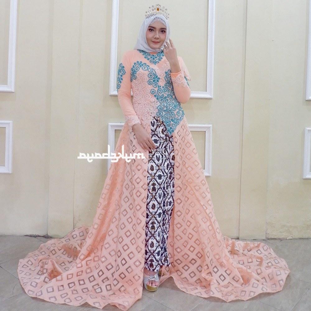 Ide Gaun Pengantin Kebaya Muslim Modern 3id6 Shopee Indonesia