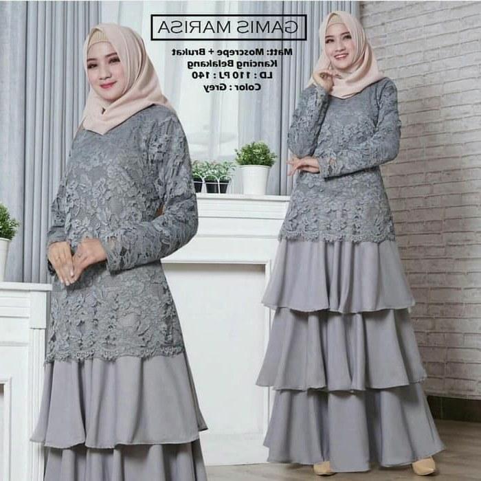 Ide Gaun Pengantin Kebaya Muslim Modern E9dx Jual Baju Gamis Brokat Baju Wanita Muslimah Terbaru Kota Pekalongan Akmal Sa Batik
