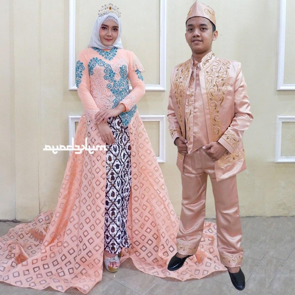 Ide Gaun Pengantin Kebaya Muslim Modern Y7du Shopee Indonesia