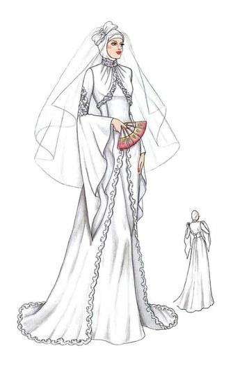 Ide Gaun Pengantin Muslimah 2019 Mndw Muslim Dress Wedding