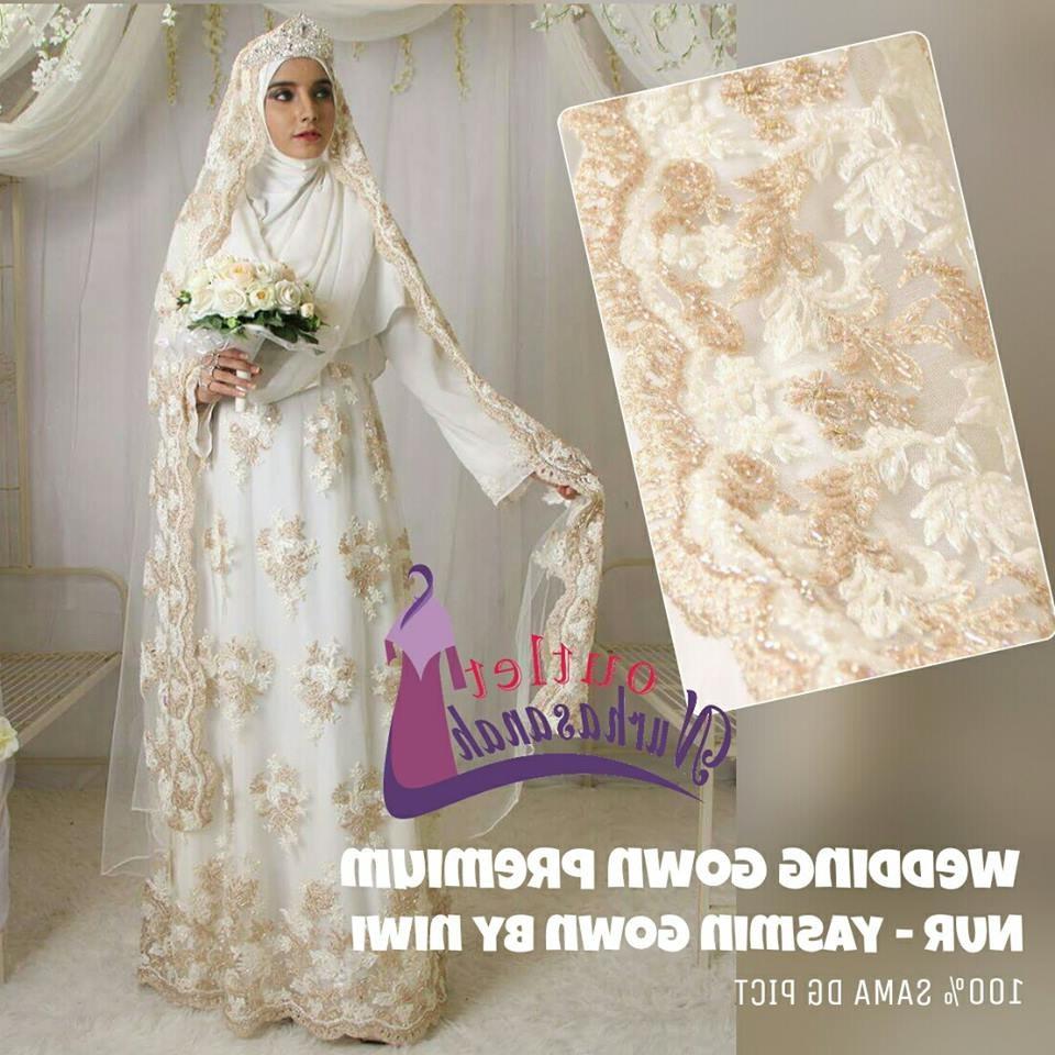 Ide Gaun Pengantin Muslimah Brokat 87dx Baju Gamis Nikah
