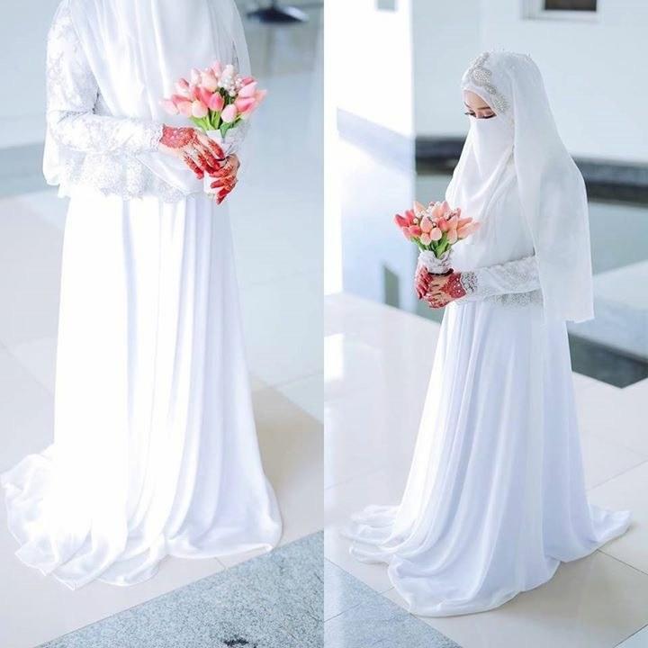 Ide Gaun Pengantin Muslimah Brokat Etdg Inspirasi Gaun Pengantin Untuk Muslimah Bercadar Prelo