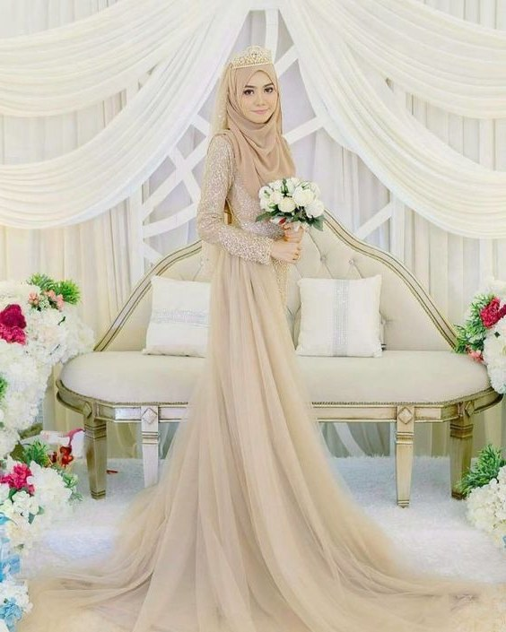 Ide Gaun Pengantin Muslimah Brokat Irdz Inspirasi Baju Pengantin Muslimah Yang Bisa Kamu Tiru Untuk