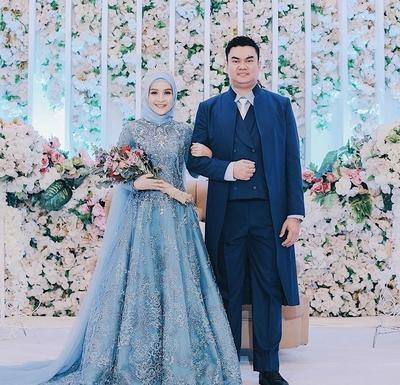 Ide Gaun Pengantin Muslimah Brokat Q0d4 Cantik Dan Elegan 5 Warna Gaun Pengantin Wanita Berhijab