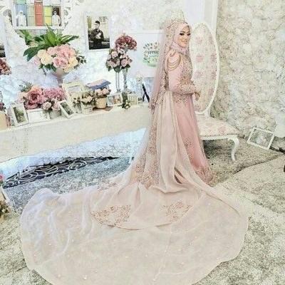 Ide Gaun Pengantin Muslimah Brokat S5d8 4 Inspirasi Gaun Pengantin Muslimah Terindah Untuk
