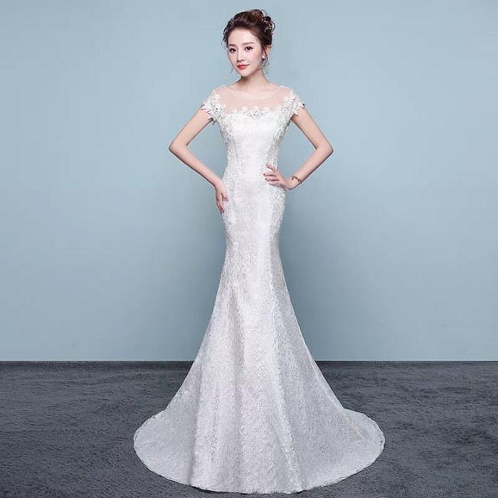 Ide Gaun Pengantin Muslimah Brokat S5d8 Jual Wedding Dress Mermaid Gaun Baju Pengantin Payet Brokat Model Duyung Putih M Kota Semarang Tiara Clay