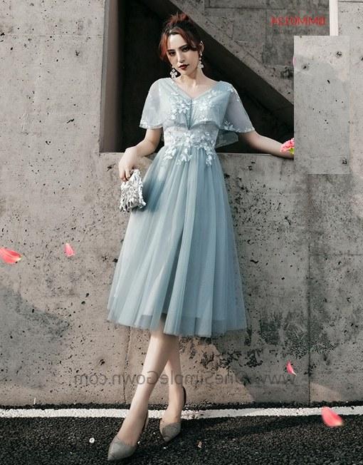 Ide Gaun Pengantin Muslimah Malaysia Bqdd Gray Blue 6 Designs Tea Length Bridesmaid Dinner Dress