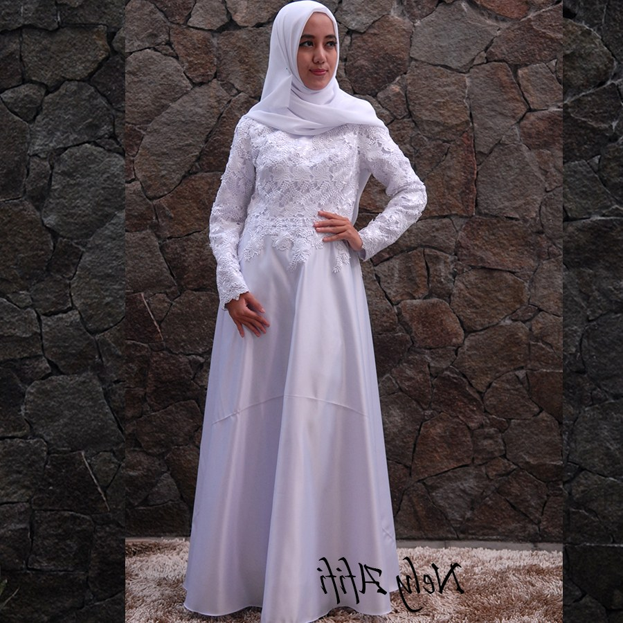 Ide Gaun Pengantin Muslimah Syar'i H9d9 Gaun Pengantin Muslimah Syar I Putih Inspirasi Pernikahan