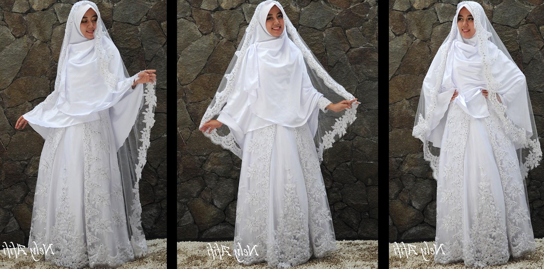Ide Gaun Pengantin Muslimah Syar'i S1du Baju Pengantin Muslimah Syar I Inspirasi Pernikahan