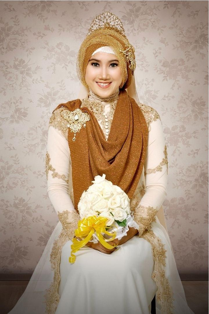 Ide Gaun Pengantin Muslimah Yang Syar'i X8d1 Gambar Desain Baju Pengantin Muslimah Yang Anggun
