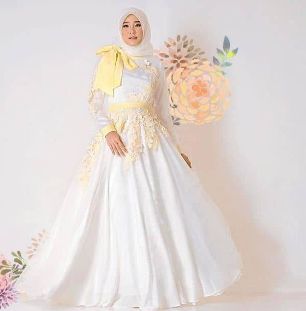 Ide Gaun Pengantin Muslimah Yang Syar'i Y7du 59 Desain Gaun Pengantin Muslim Modern Terbaru Dan