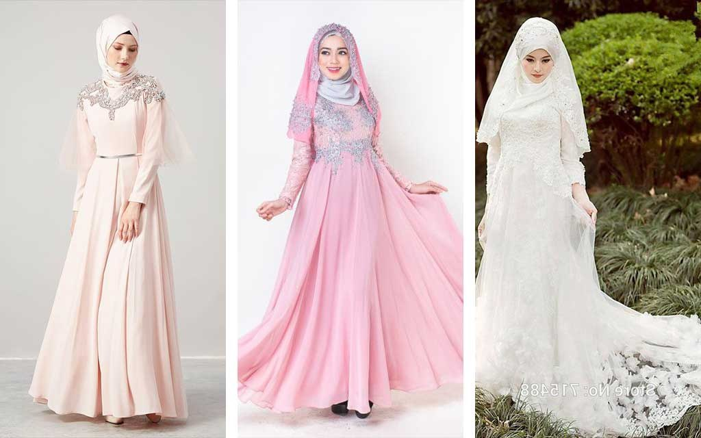 Ide Jual Baju Pengantin Muslimah Syar'i Dddy 30 Model Gamis Pengantin Brokat Fashion Modern Dan