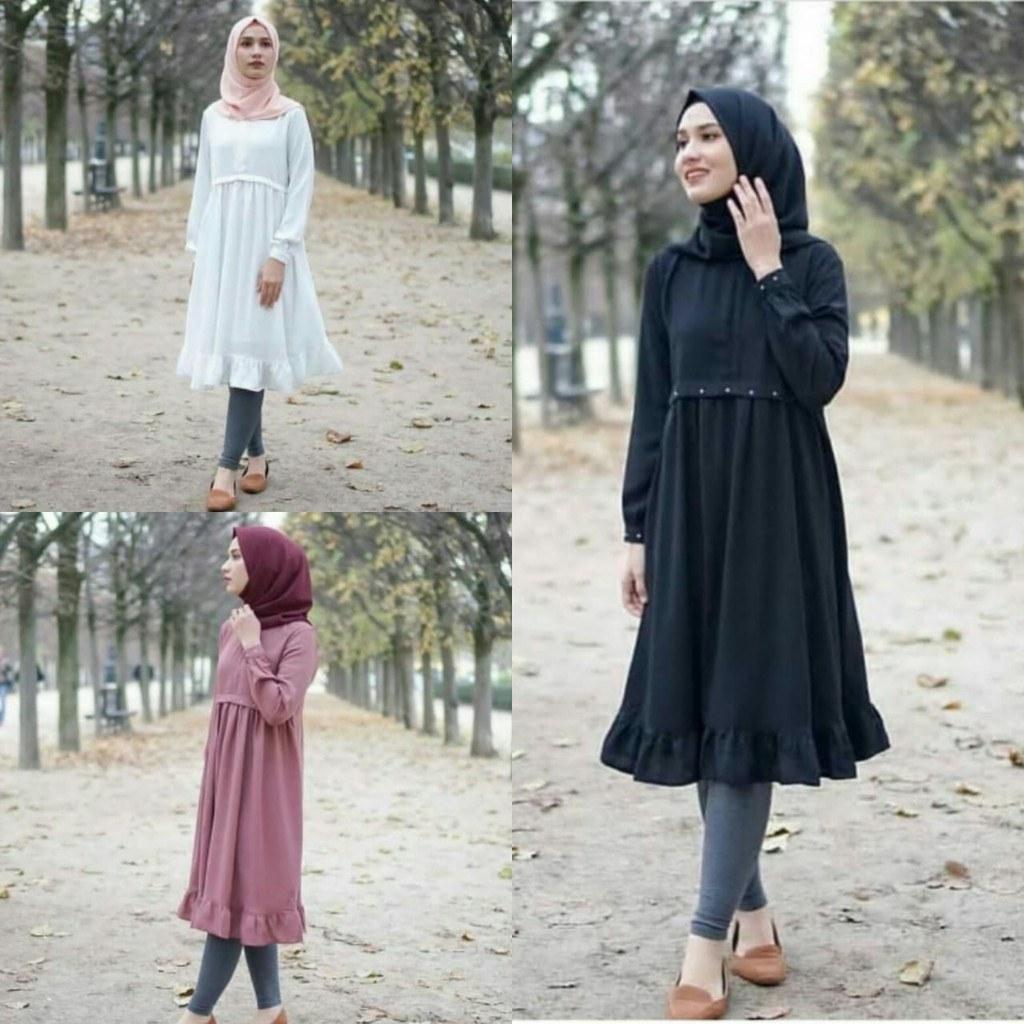 Ide Model Baju Pengiring Pengantin Muslim Thdr andika Long Dress Sfs