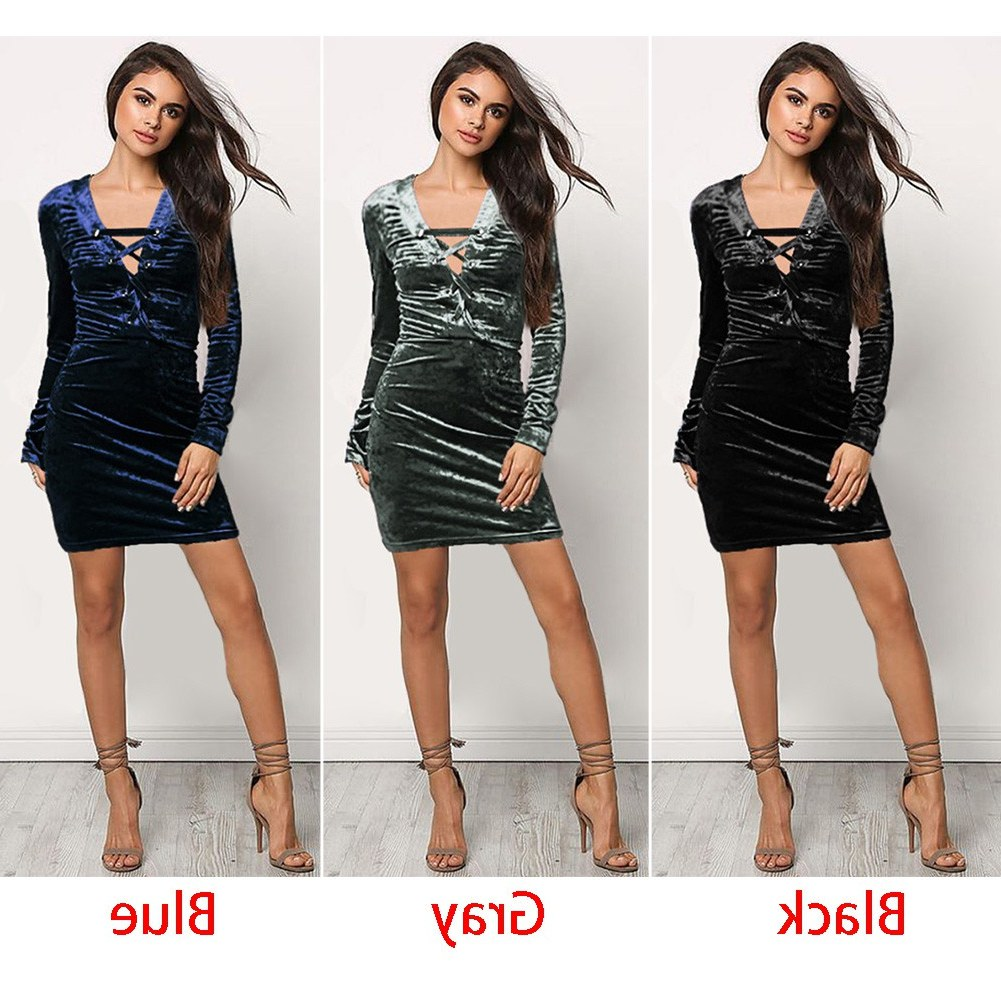 Ide Model Baju Pengiring Pengantin Muslim Txdf Women V Neck Front Lace Up Velvet Bandage Long Sleeve Y